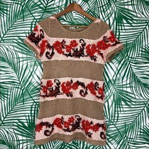 Anthropologie Knitted & Knotted Sweater Tunic M